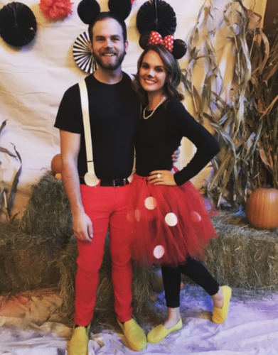 Couples Halloween Costumes: Mickey Mouse & Minnie Mouse