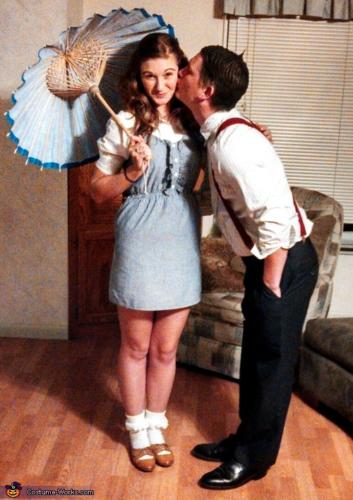 Couples Halloween Costumes: Darla & Alfalfa