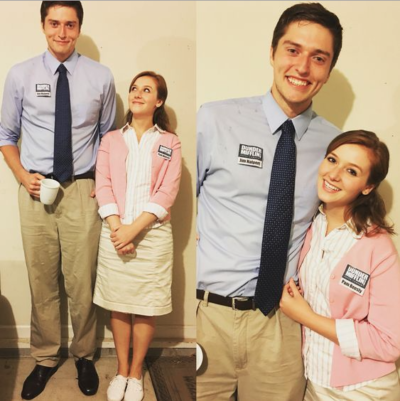 Couples Halloween Costumes: Jim & Pam from The Office