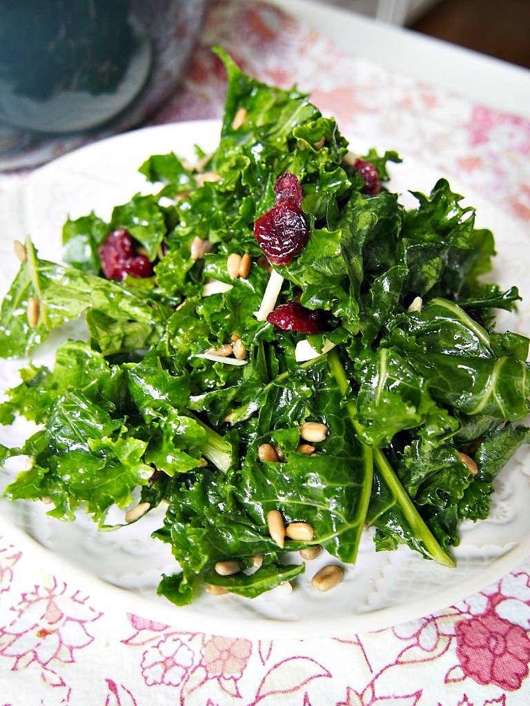 easy kale salad that is delicious!