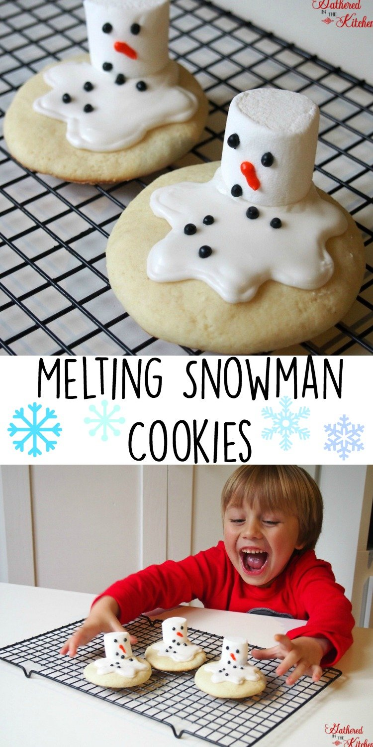 Melting Snowman Cookies! Delicious and easy to make!