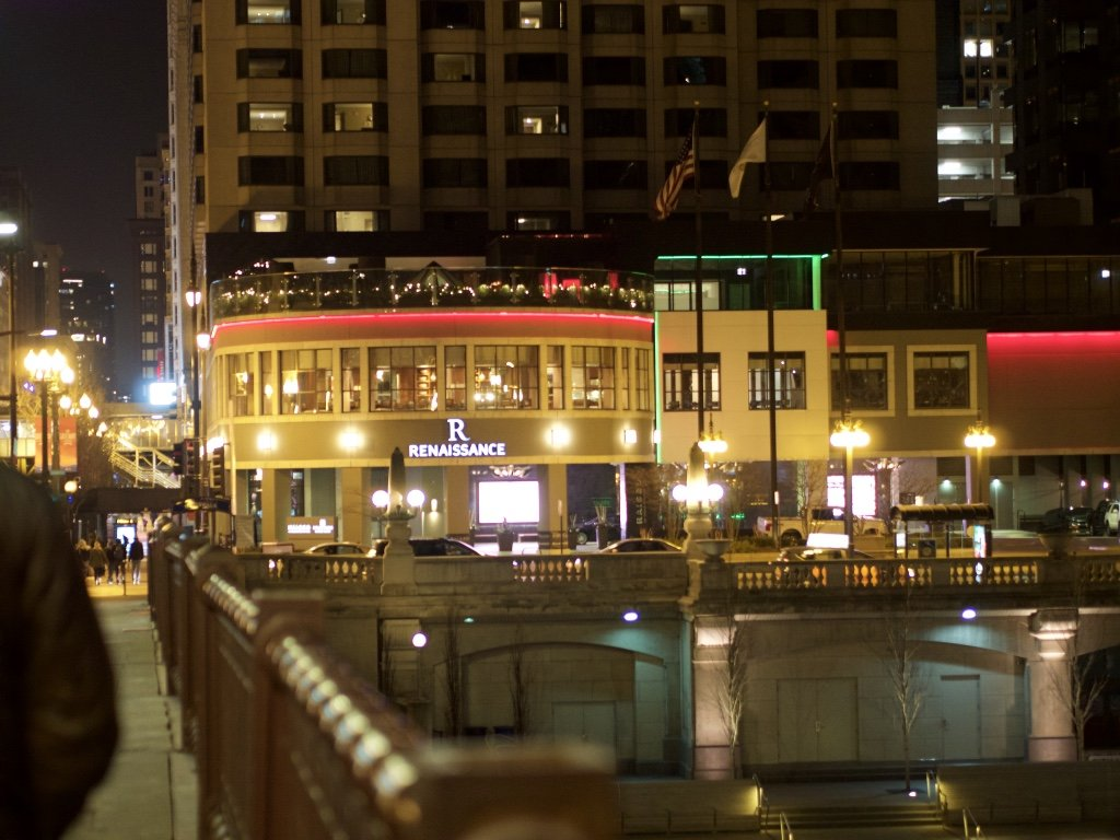 Downtown Chicago at Night in Winter