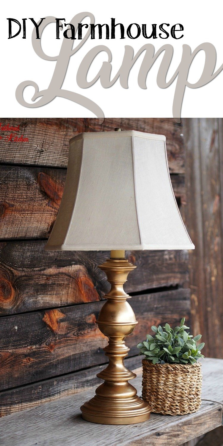 Do It Yourself Divas Diy Kitchen Table Makeover: DIY Rubbed Gold Thrift Store Lamp Makeover Rub 'n Buff