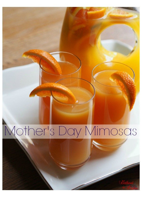 Mother's Day Sunrise Mimosa, celebrate mom with these gorgeous and delicious brunch time mimosas!