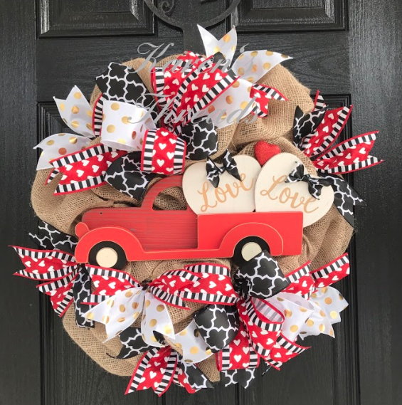 Valentines Day Wreath Ideas For Front Doors Gathered In