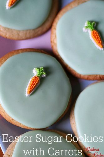 Easter Sugar Cookies with Carrots