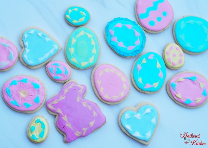 easter sugar cookies decorated with royal icing