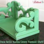 Dixie Belle Kudzu Green Painted Shelf Before & After