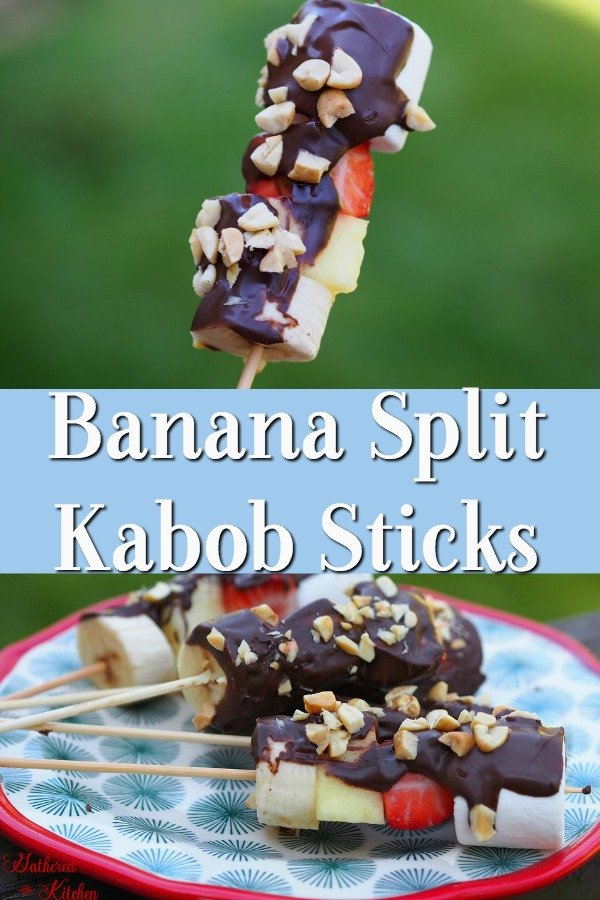 banana split kabob sticks