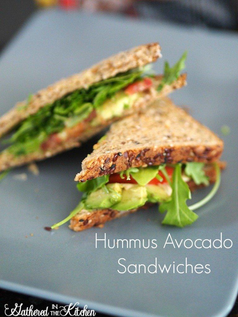 Hummus Avocado Sandwiches