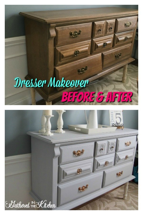 Dresser makeover - before and after