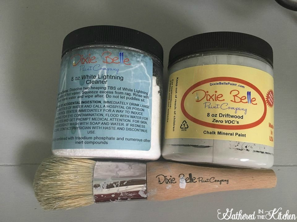 dixie belle white lightening cleaner and dixie belle driftwood chalk paint