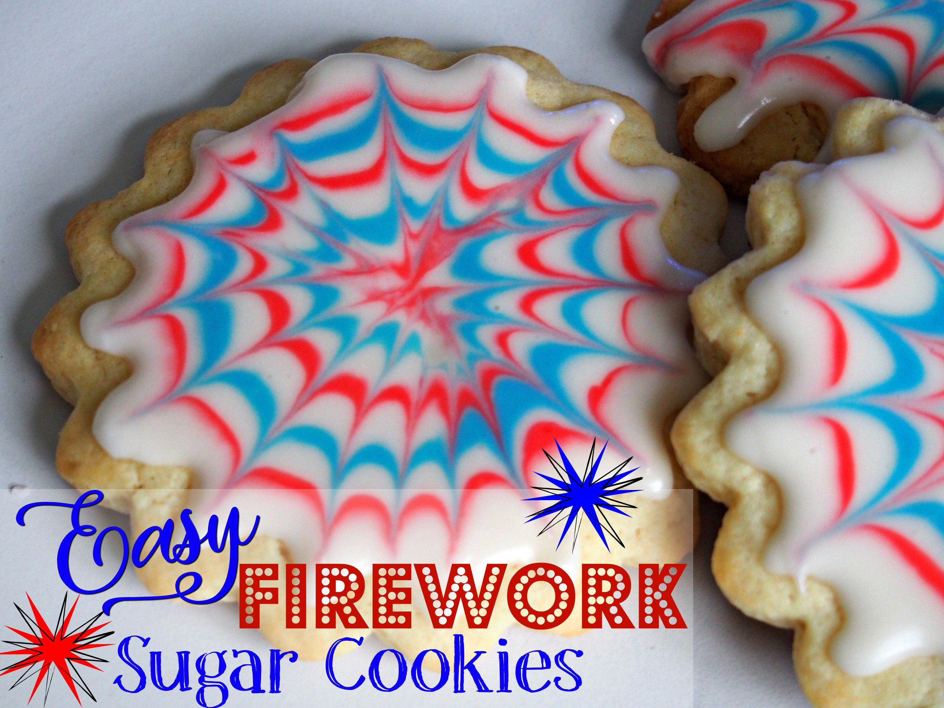 Easy Firework Sugar Cookies for 4th of July
