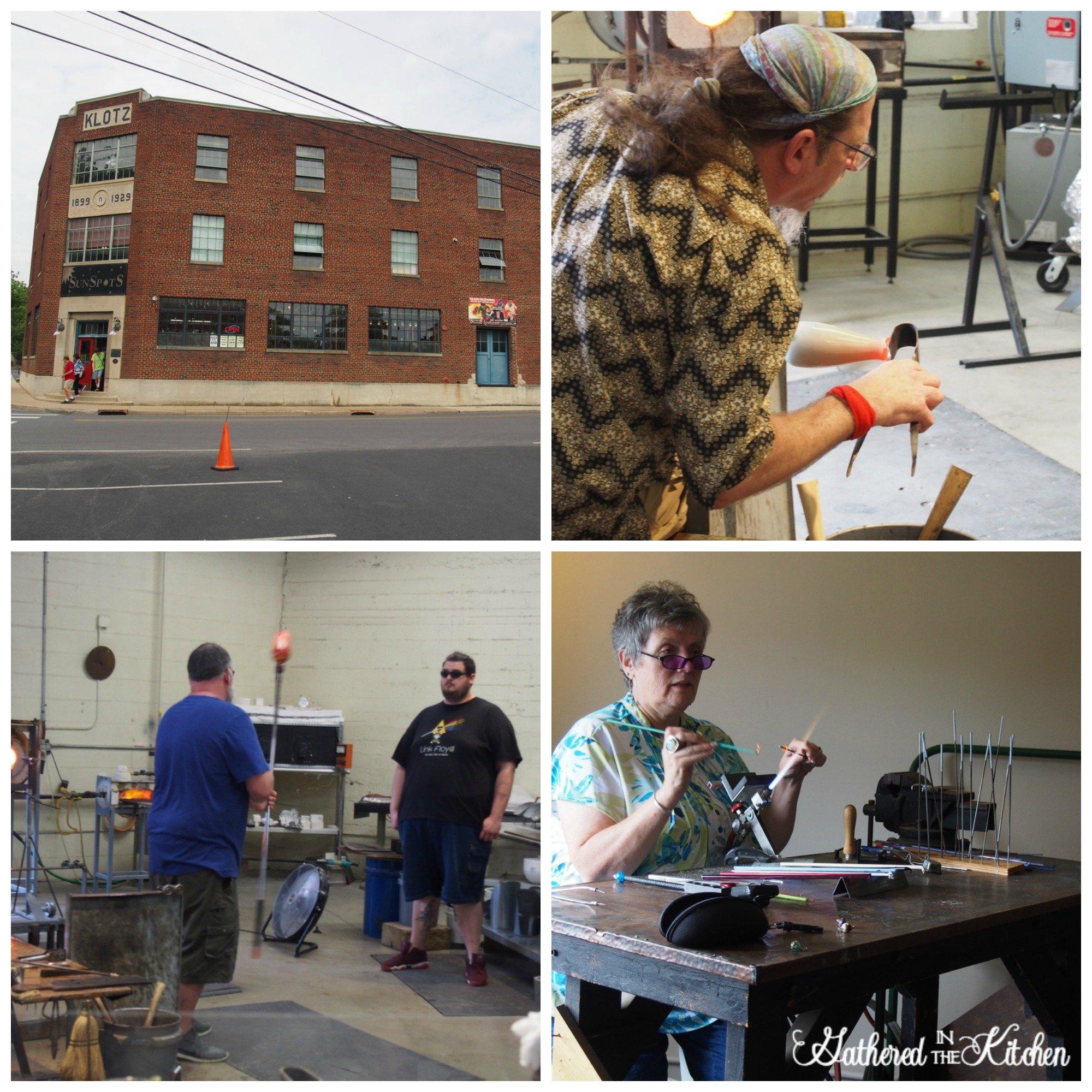 Glass Blowing at Sunspots Studios Live Glassblowing, Staunton, Virginia