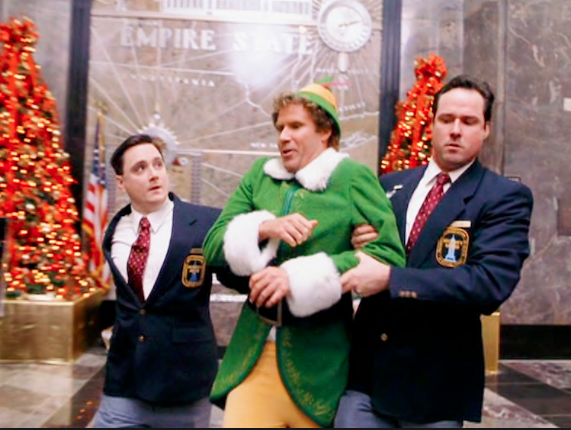 Elf at the Empire State Building