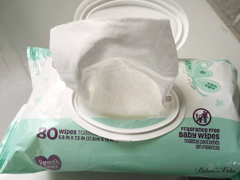 baby wipes an essential for camping