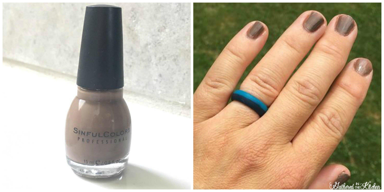 dark nail polish for camping