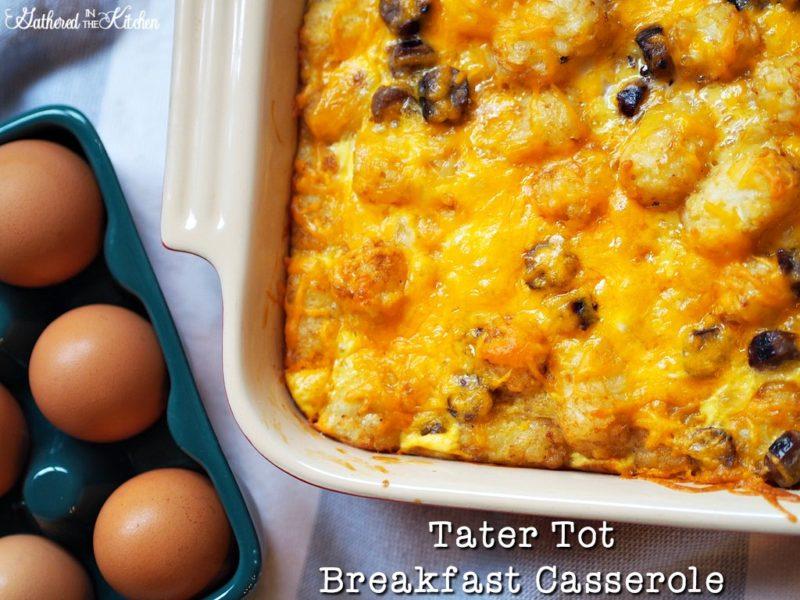 This tater tot breakfast casserole