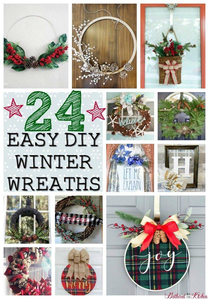 24 Easy DIY Winter Wreaths