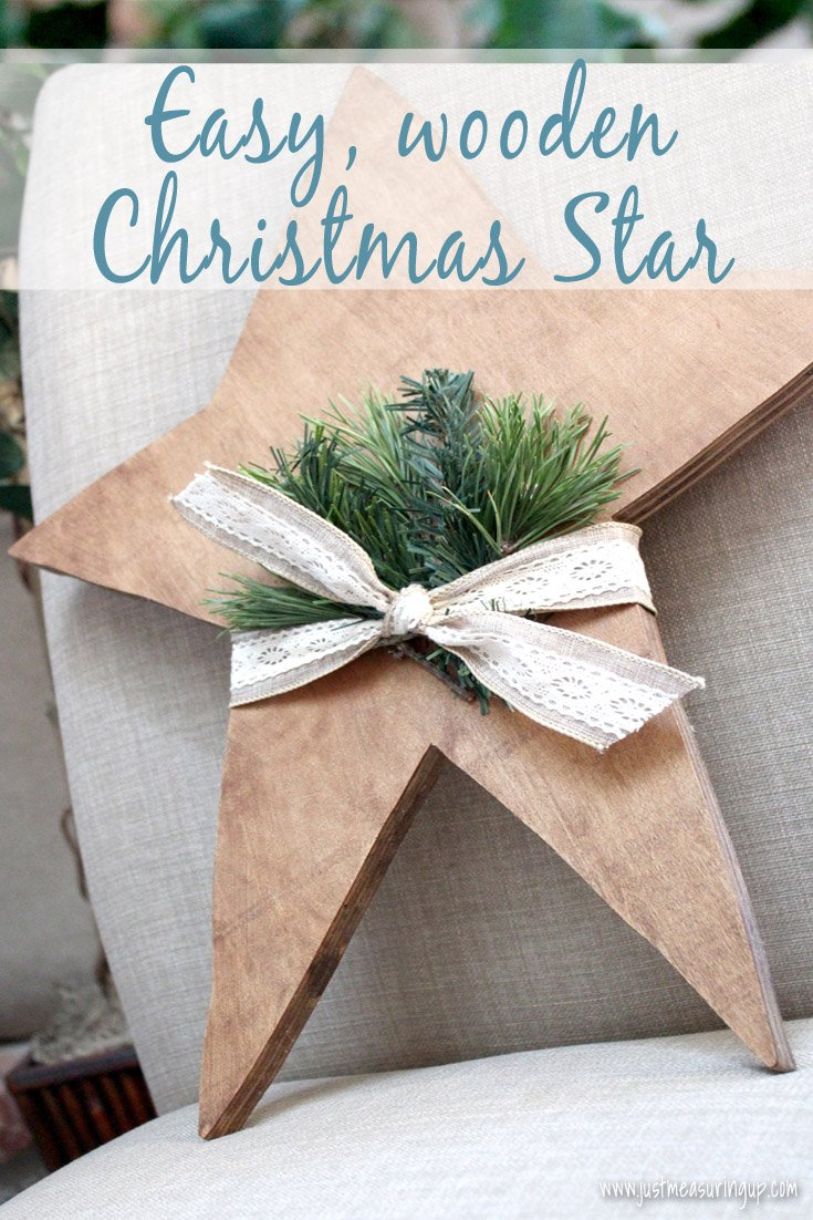 Amazingly Simple Wooden Christmas Star