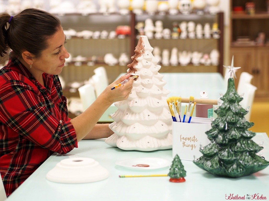 Paint Your Own Ceramic Christmas Tree With Light Kit Gathered In The Kitchen