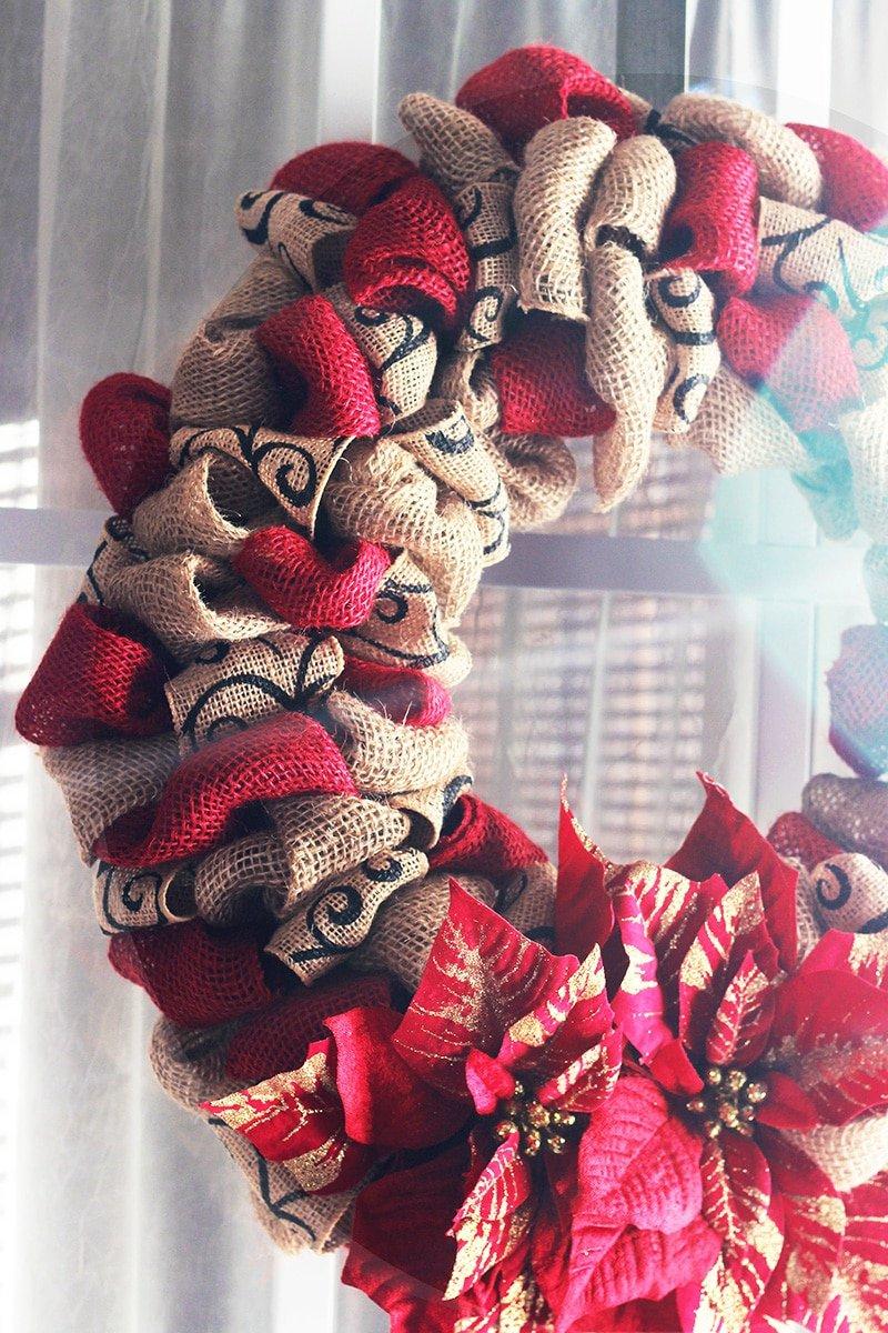 DIY Christmas Burlap Wreath