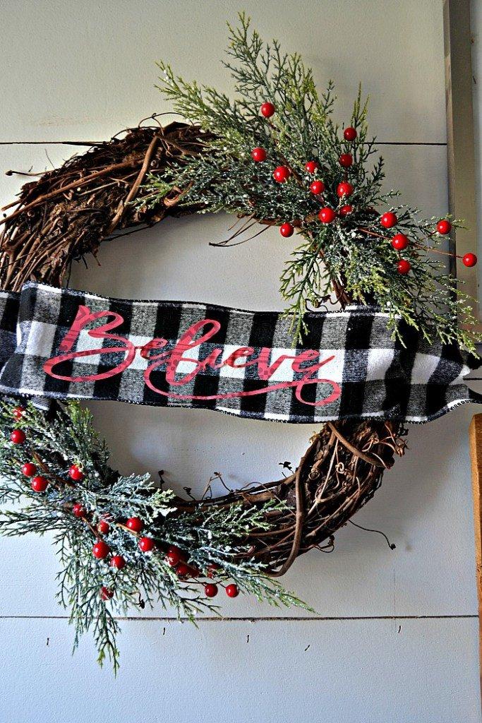 Rustic Evergreen Christmas Wreath