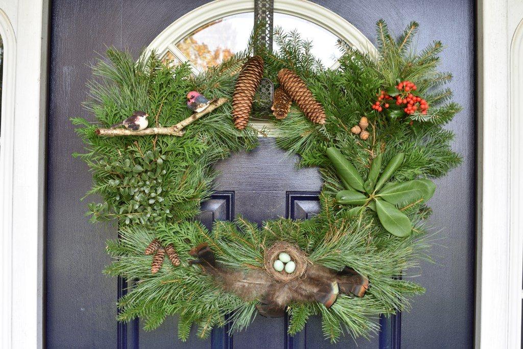 Rustic Frame Christmas Wreath