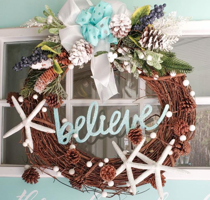 Coastal Christmas Wreath