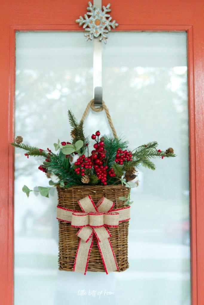 Simple Christmas Door Decor