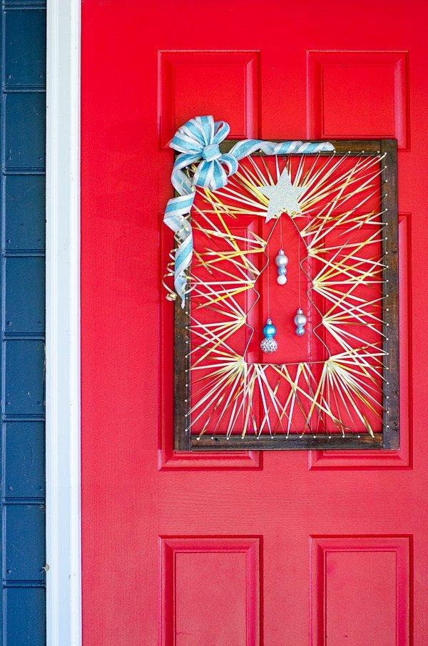 Wooden Nontraditional Christmas Door Decor