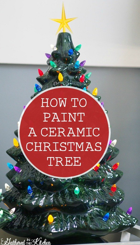 Paint Your Own Ceramic Christmas Tree With Light Kit Gathered In