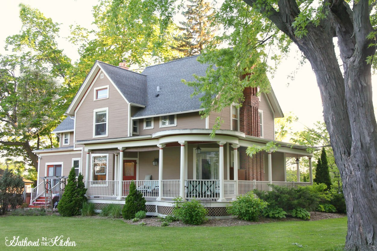Beautiful 1886 Victorian styled farmhouse with wrap around porch home in Wisconsin
