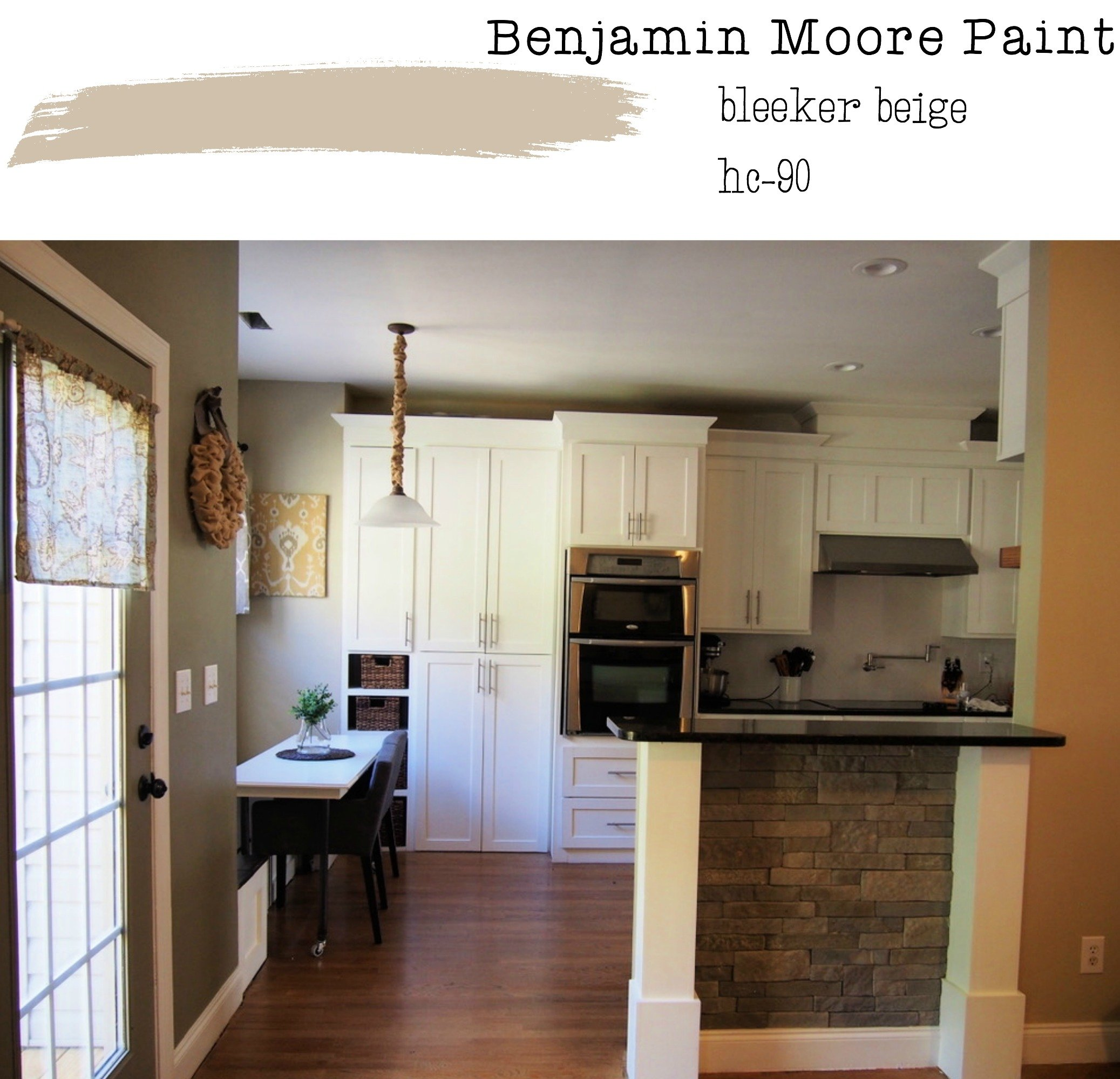 Our Neutral Paint Color Scheme Gathered In The Kitchen