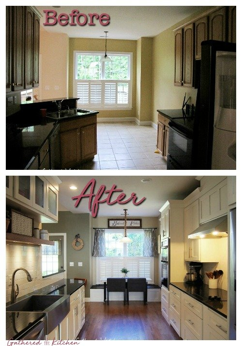 Kitchen Renovation Before After For Under 7 000 Gathered In