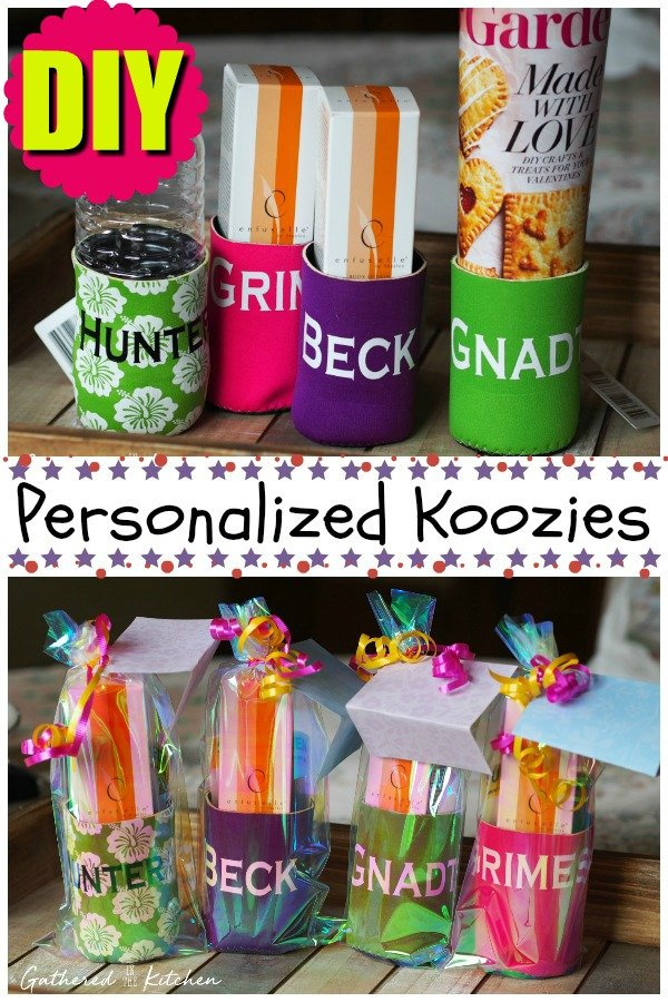 Personalized Koozies Shaklee Sunscreen Gathered In The Kitchen