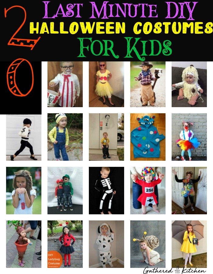20 Diy Unique Last Minute Halloween Costumes For Kids Gathered