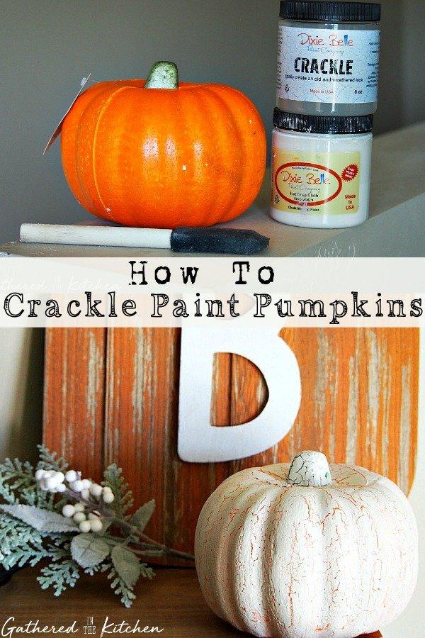 How To Crackle Paint Pumpkins