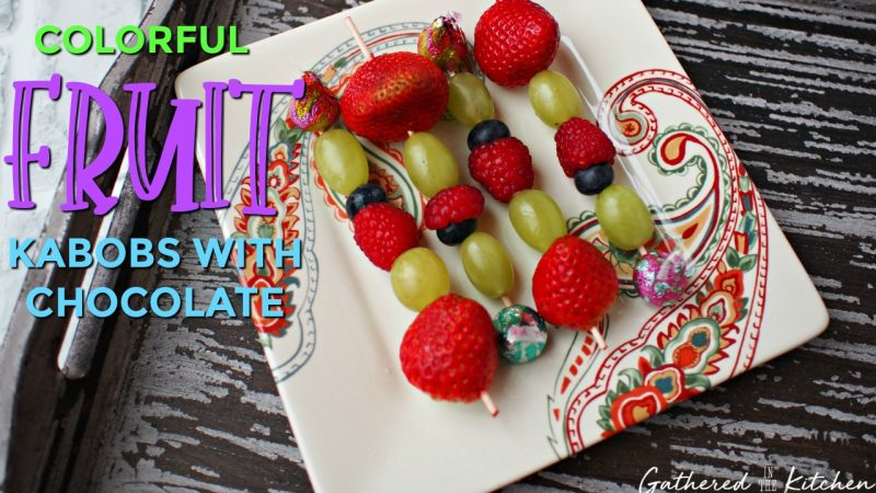 Fruit Kabobs with Chocolate