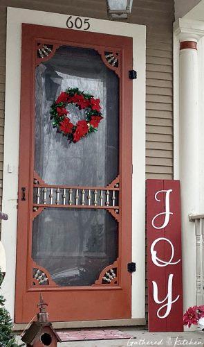 Joy - DIY Christmas Wooden Porch Sign