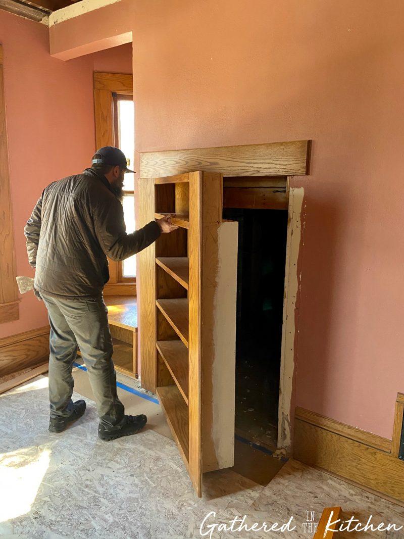 Secret Bookcase in Victorian Home
