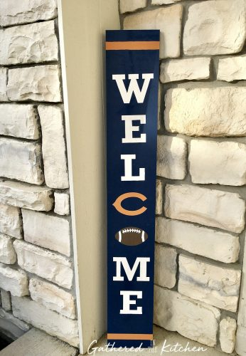 DIY Chicago Bears Wooden Porch Sign