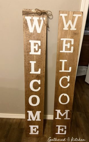 DIY Welcome Wooden Porch Sign