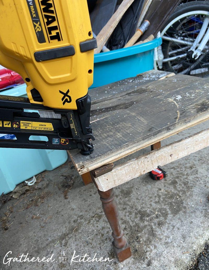 DIY Wooden Porch Stool