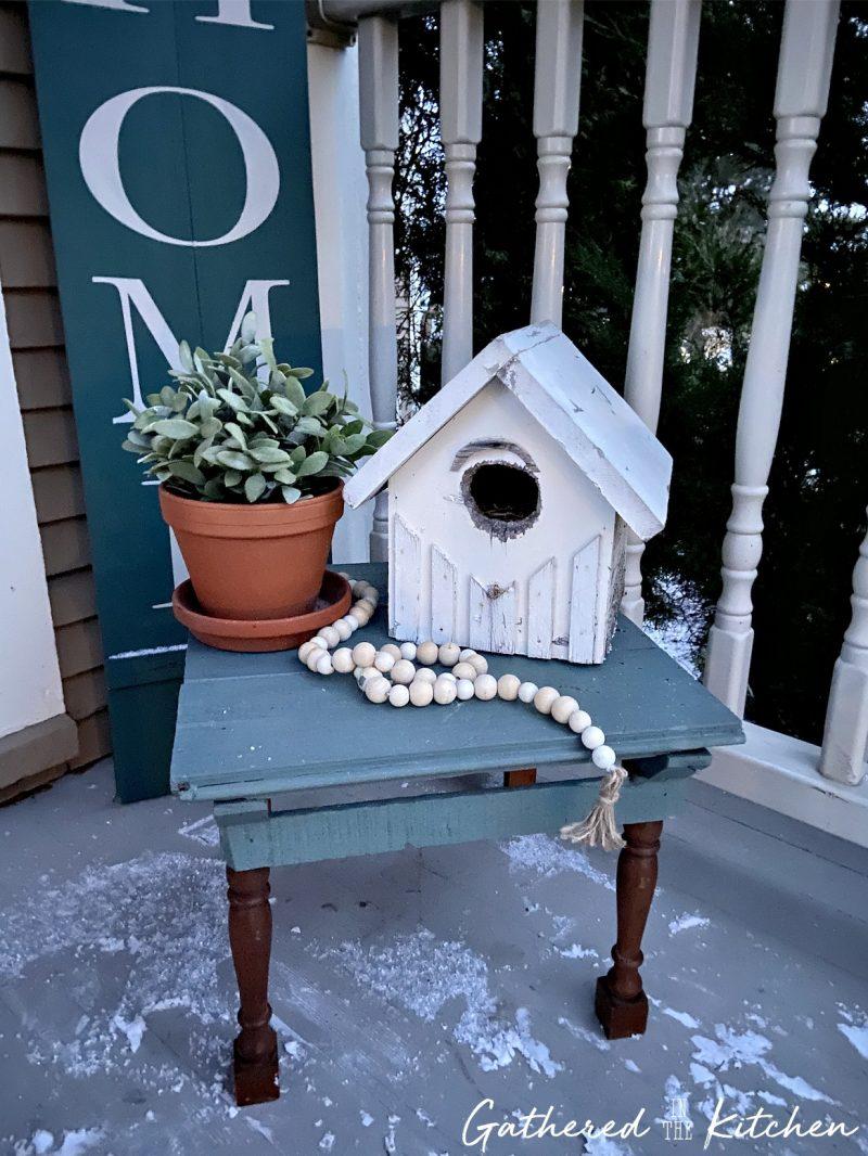 farmhouse themed porch decor