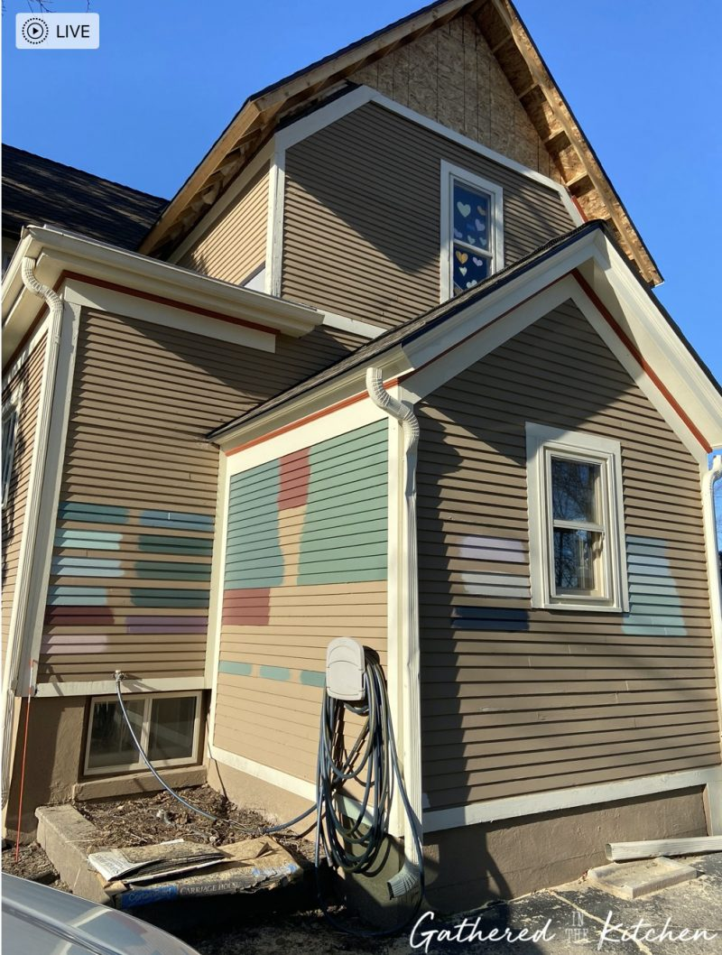 Testing out exterior house colors
