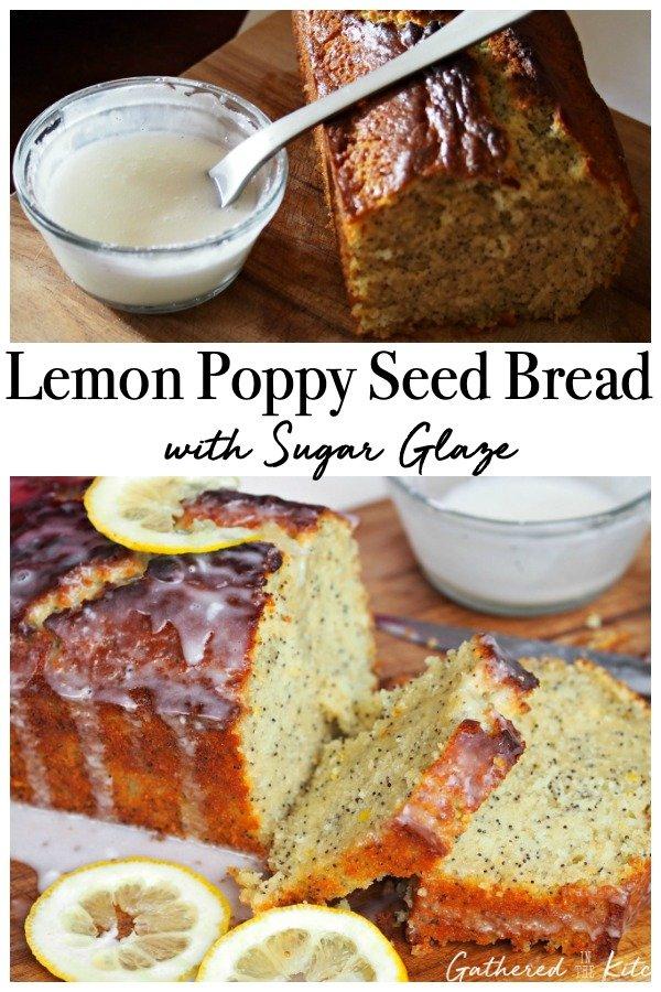 Lemon Poppy Seed Bread with Sugar Glaze