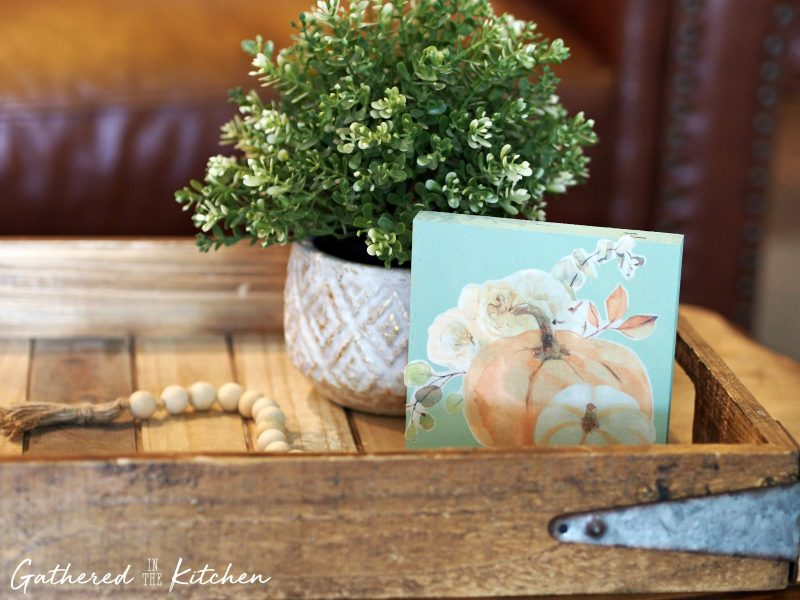 Decoupage Wooden Pumpkin Decor