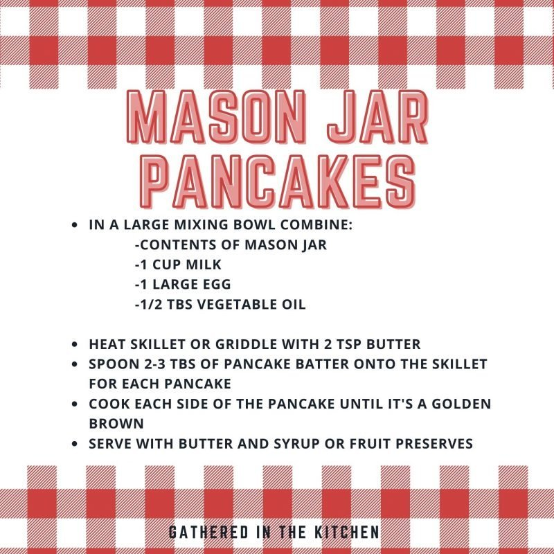 mason jar pancakes free printable