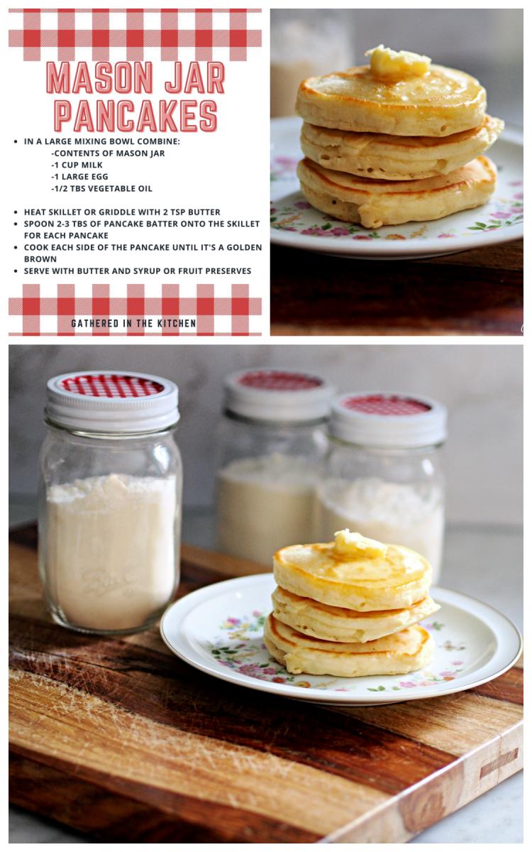 Make Ahead Mason Jar Pancakes Free Printable